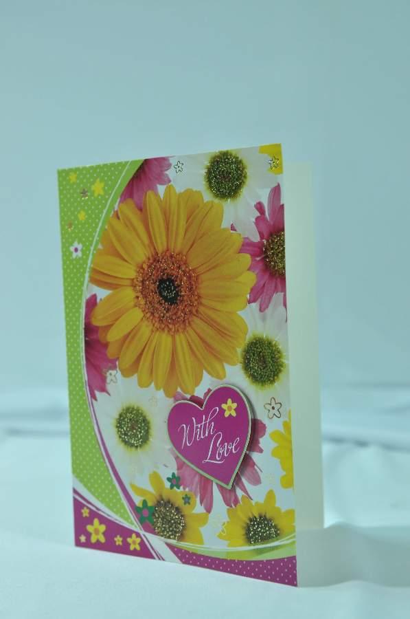 Thiệp giấy hoa